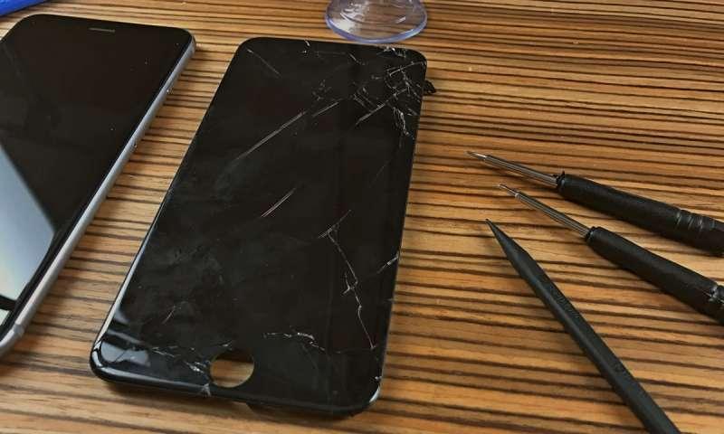 неисправный дисплей iPhone