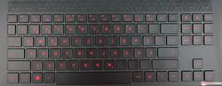 Клавиатура на HP Omen 15